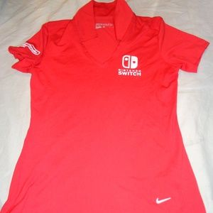 Nike Nintendo Switch Shirt Polo Size Small